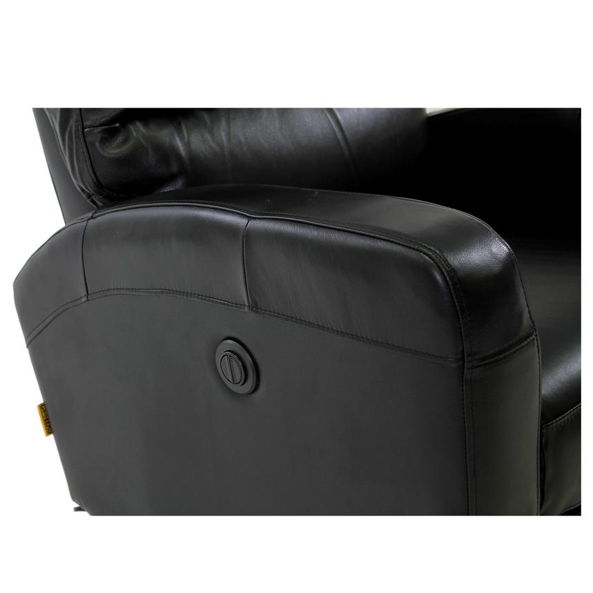 Keegan Black Power Motion Leather Recliner  alternate image, 7 of 8 images.