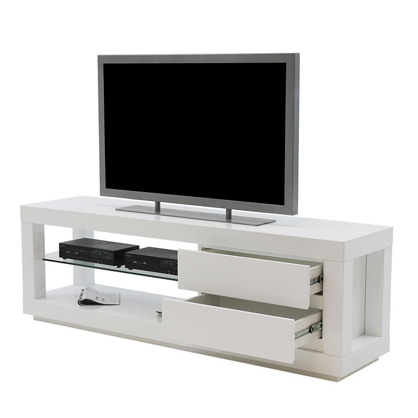 Max White TV Stand  alternate image, 3 of 5 images.