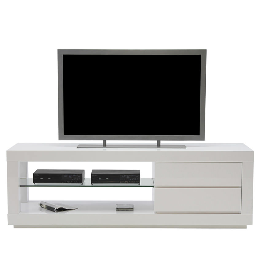 Max White TV Stand  alternate image, 2 of 5 images.