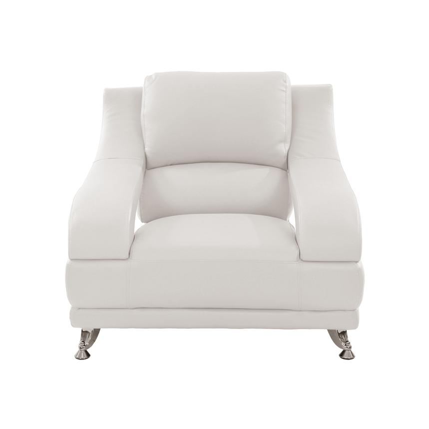 Jedda White Leather Chair  alternate image, 2 of 5 images.