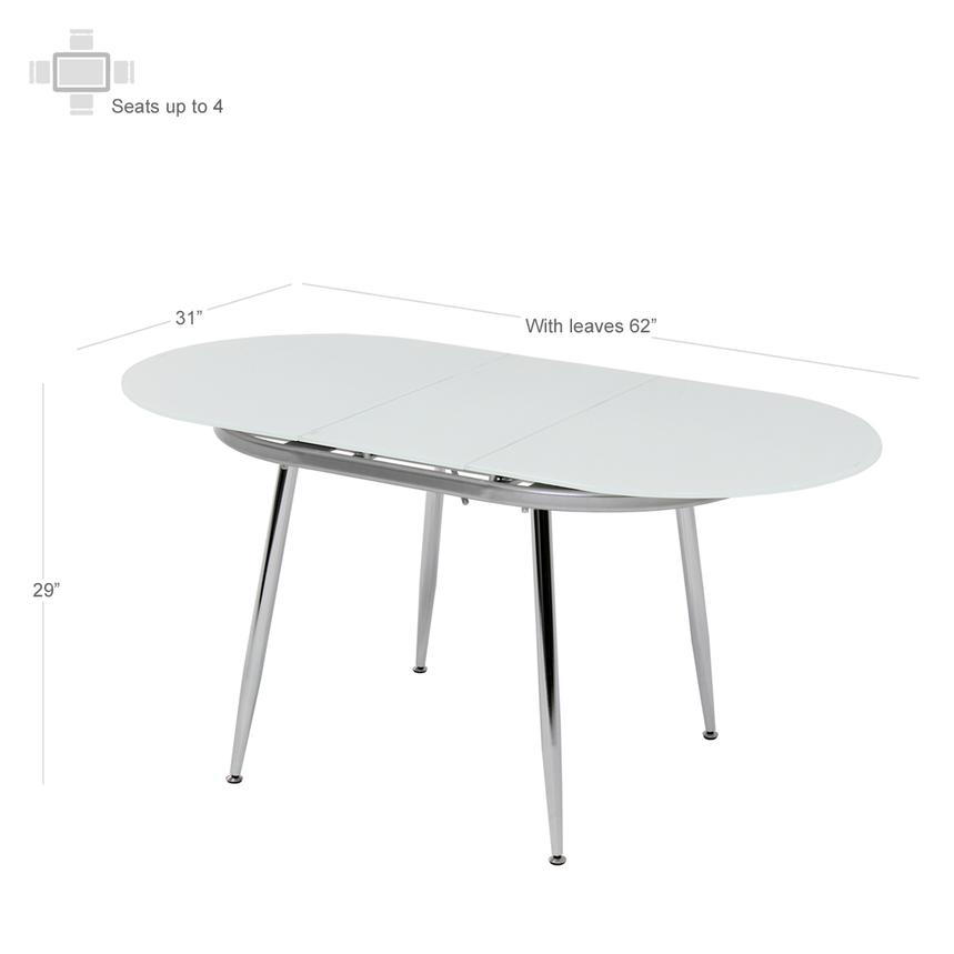 Clotus White 5-Piece Casual Dining Set  alternate image, 3 of 8 images.