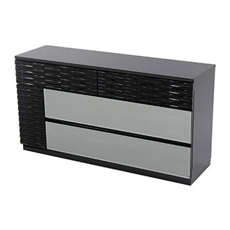 Manhattan Black Mirrored Dresser