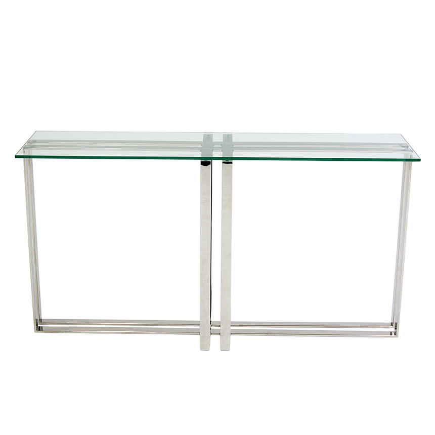 Riga Clear Console Table  alternate image, 2 of 5 images.