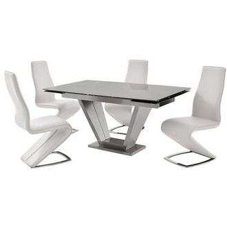 Jessy White 5-Piece Dining Set