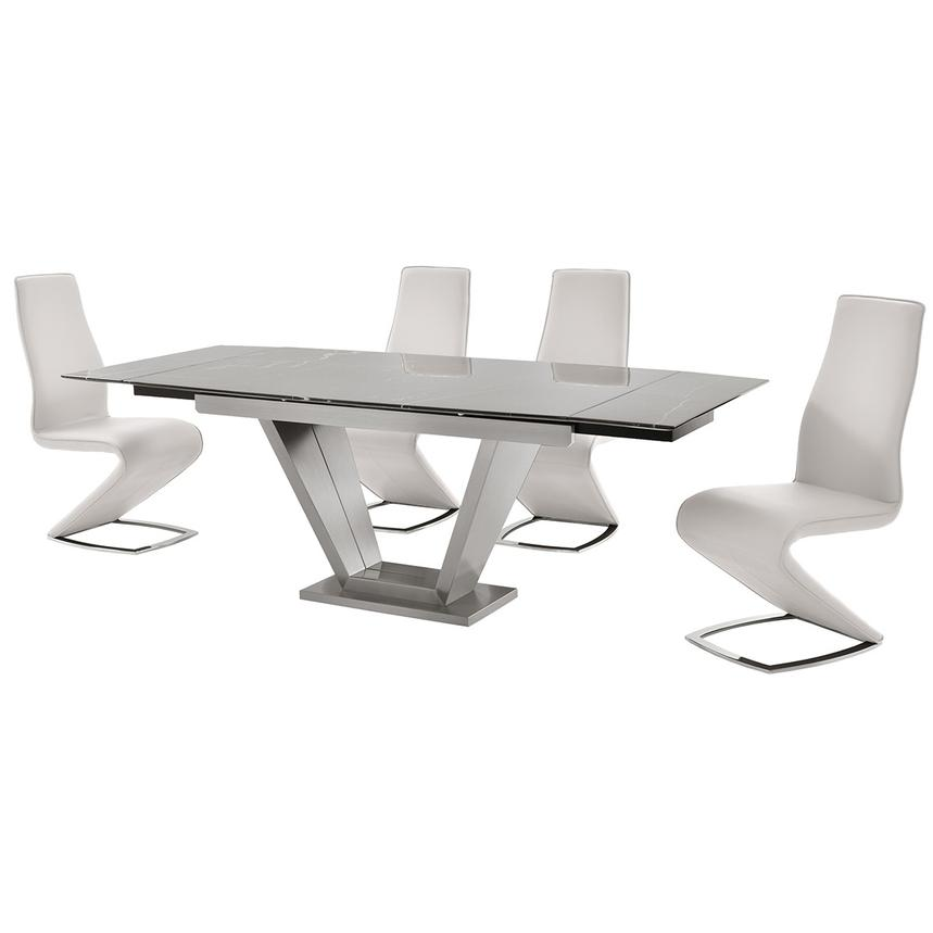 Jessy White 5-Piece Formal Dining Set  alternate image, 2 of 12 images.