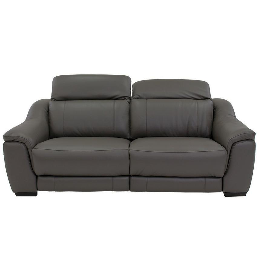 Davis Gray Power Motion Leather Sofa  alternate image, 3 of 10 images.