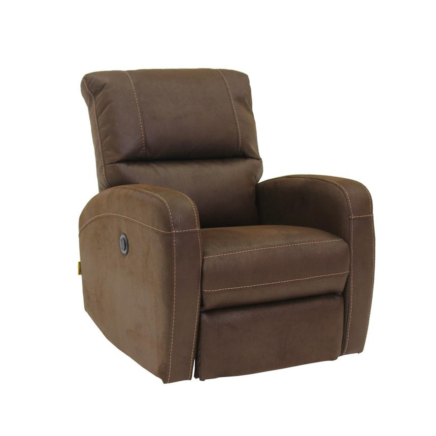 Keelogan Brown Power Motion Recliner  alternate image, 3 of 7 images.