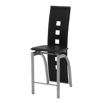 Dominoes Black Counter Stool