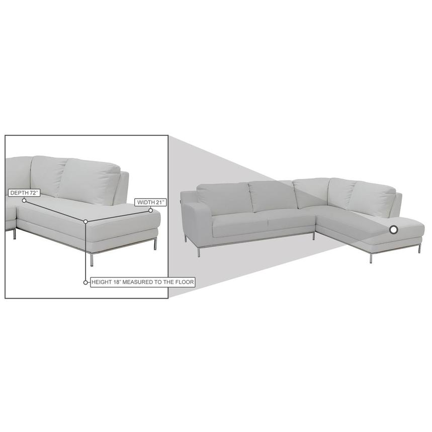 Cantrall White Corner Sofa w/Right Chaise  alternate image, 9 of 9 images.