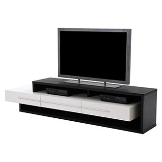 Avanti Dark Oak/White TV Stand