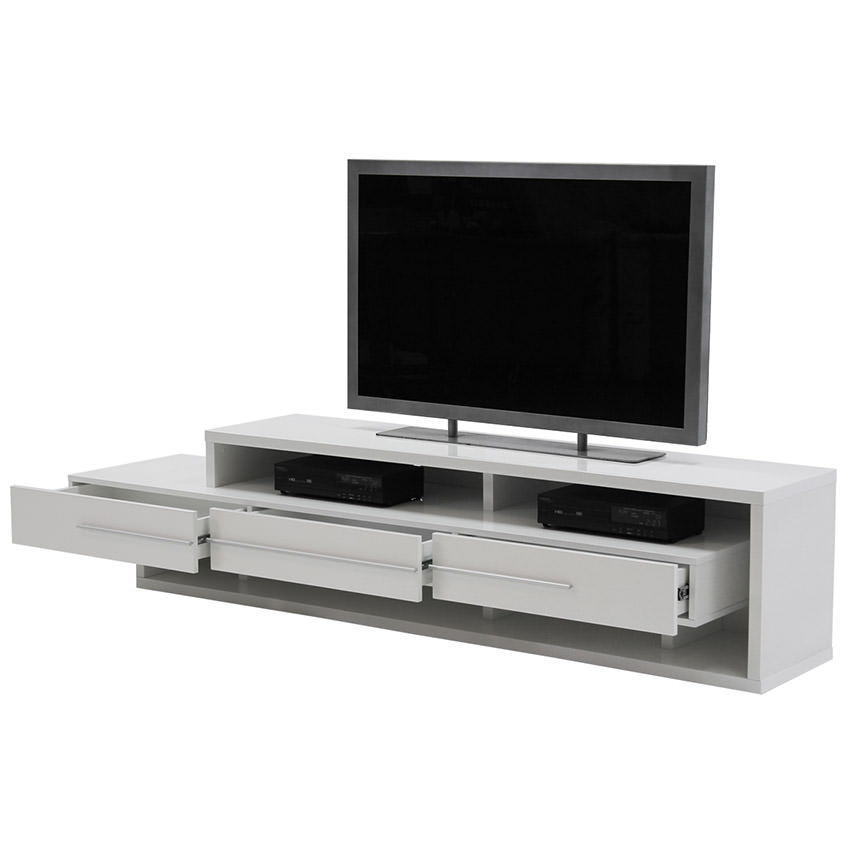 Avanti White TV Stand  alternate image, 2 of 5 images.