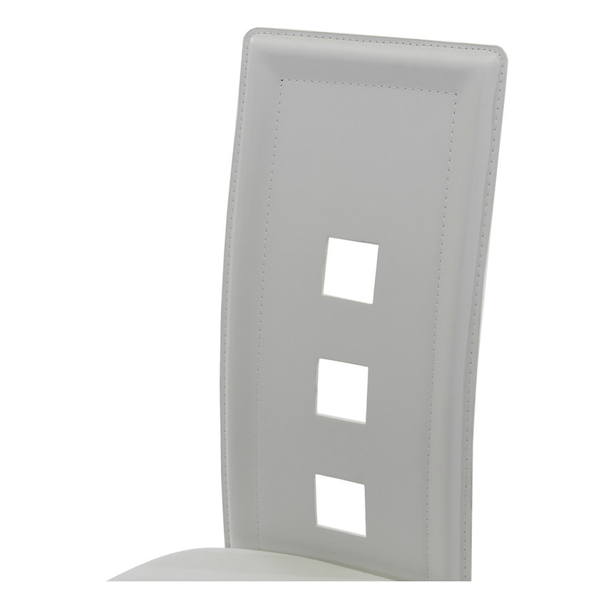 Dominoes White Counter Stool  alternate image, 3 of 4 images.