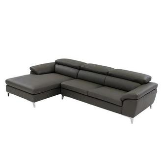 Costa Gray Corner Sofa w/Left Chaise