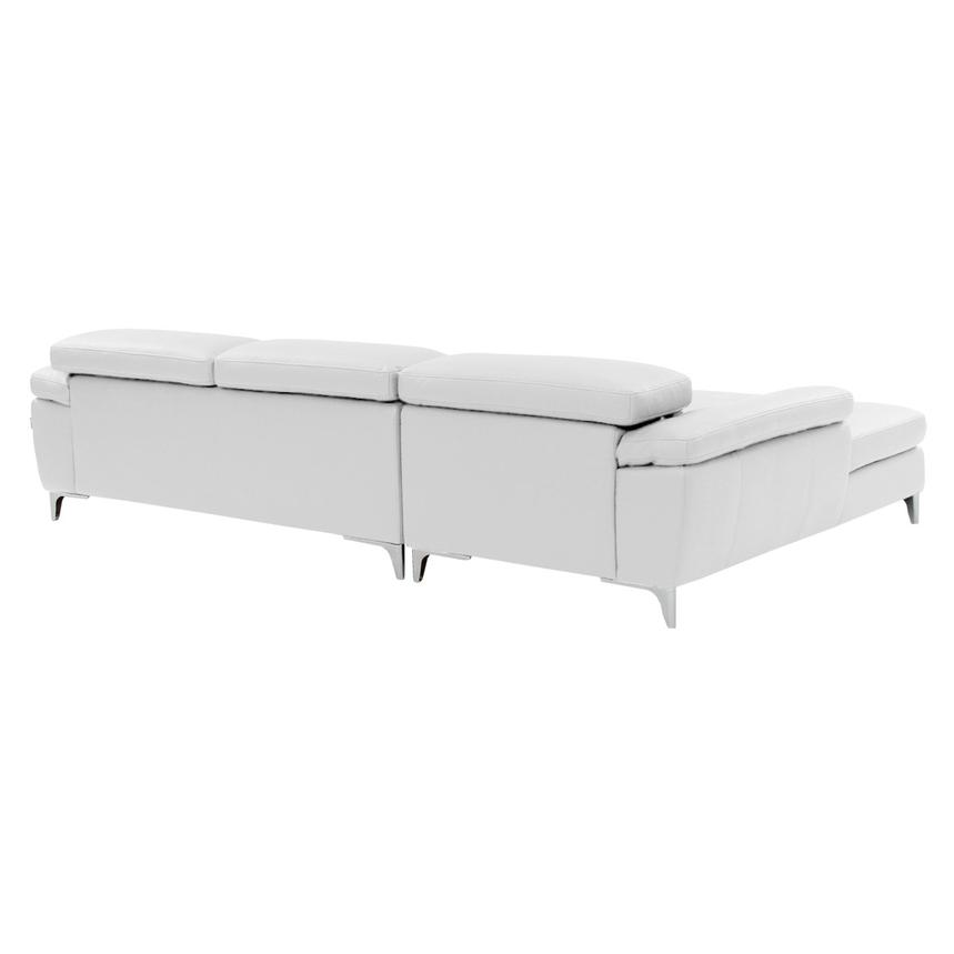 Costa White Sofa w/Left Chaise  alternate image, 3 of 6 images.