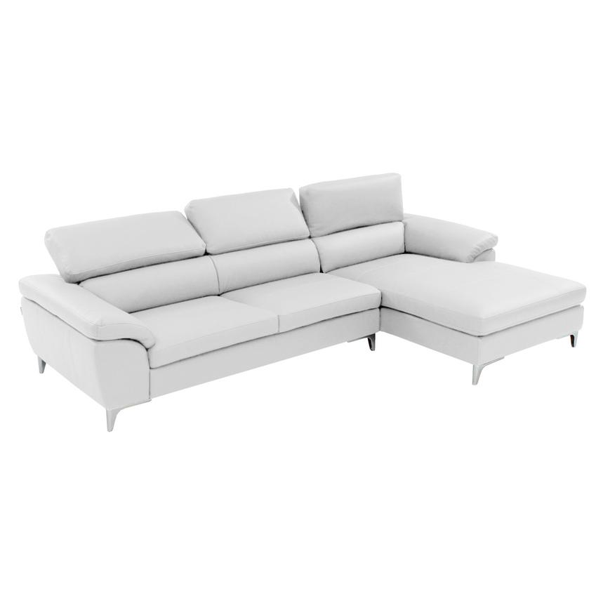 Costa White Corner Sofa w/Right Chaise