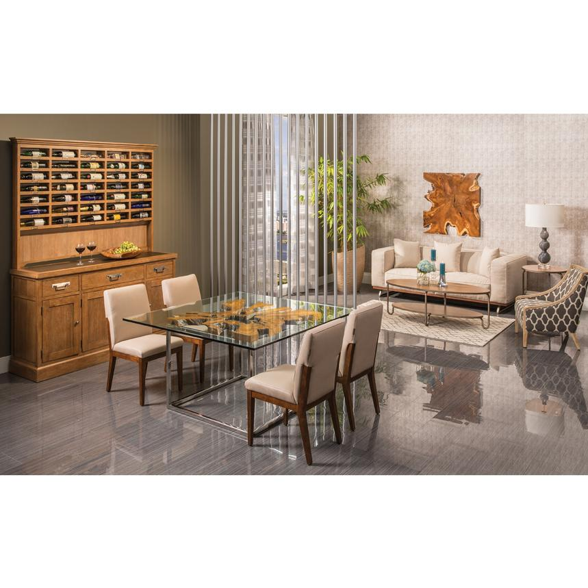 utica square dining table el dorado furniture. Black Bedroom Furniture Sets. Home Design Ideas