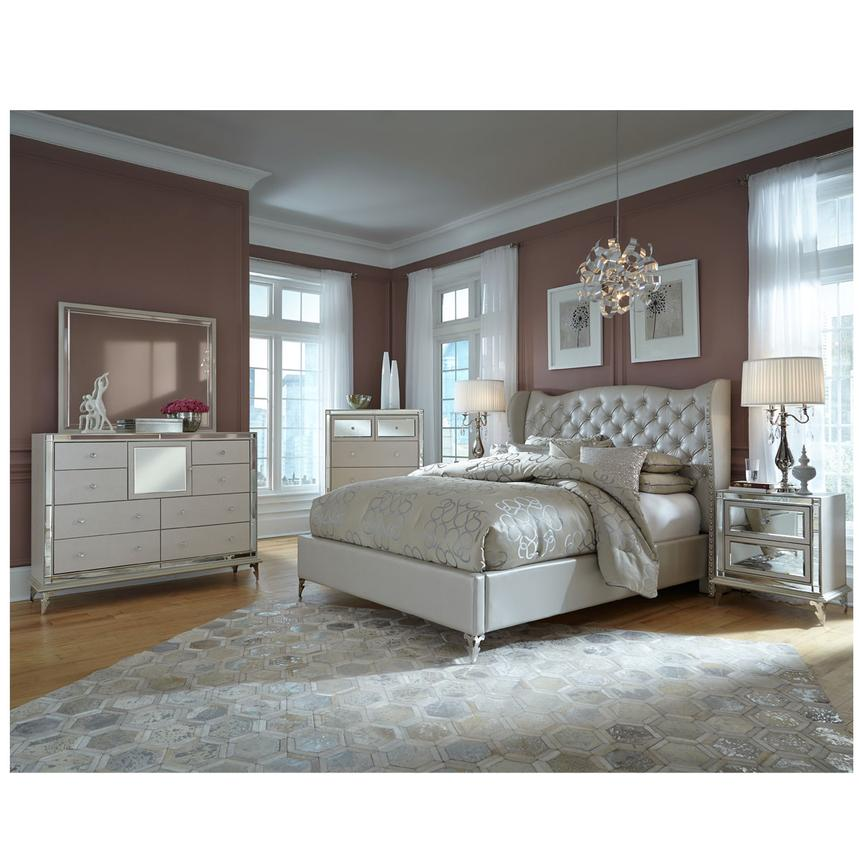 Hollywood Loft Frost Queen Platform Bed El Dorado Furniture