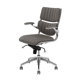 Bell Gray Low Back Desk Chair