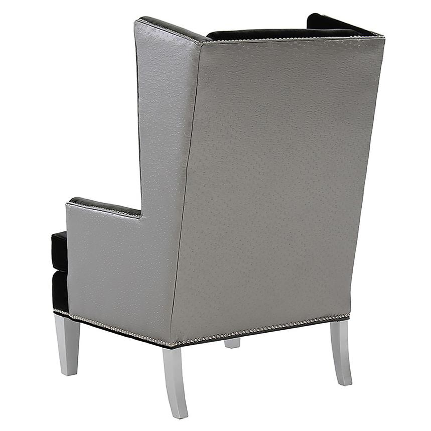 Laura Dark Gray Accent Chair  alternate image, 3 of 6 images.