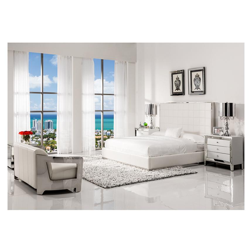 Amia White Mirrored Cabinet