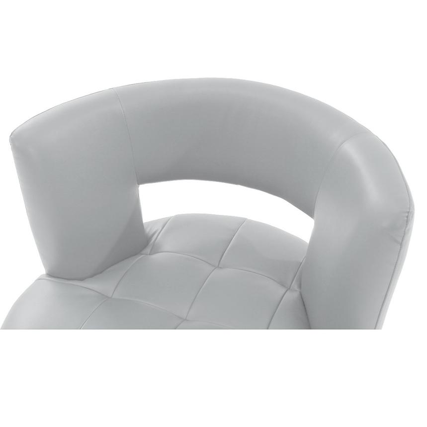 Noale White Swivel Accent Chair  alternate image, 4 of 4 images.