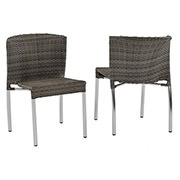 Gerald Gray 5-Piece Patio Set w/10mm Glass Top  alternate image, 6 of 7 images.
