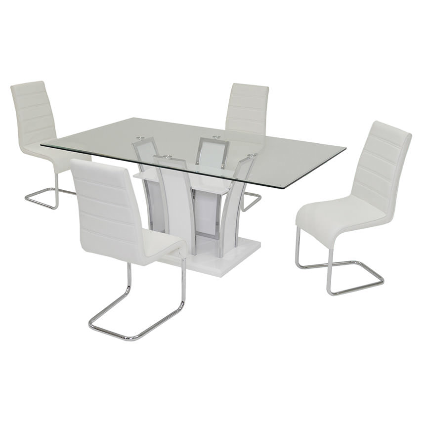 Dash White 5-Piece Dining Set  main image, 1 of 7 images.