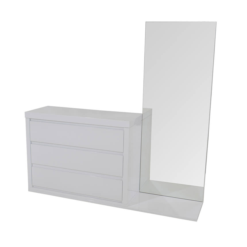 Sharon White Dresser Wmirror El Dorado Furniture