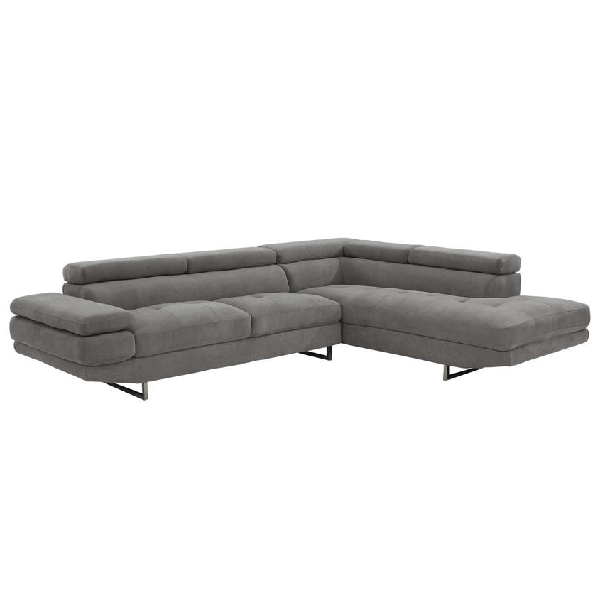 Taheri Gray Corner Sofa w/Right Chaise  main image, 1 of 8 images.