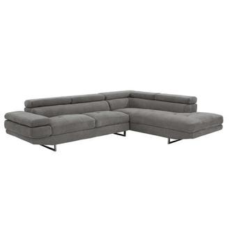 Taheri Gray Corner Sofa w/Right Chaise
