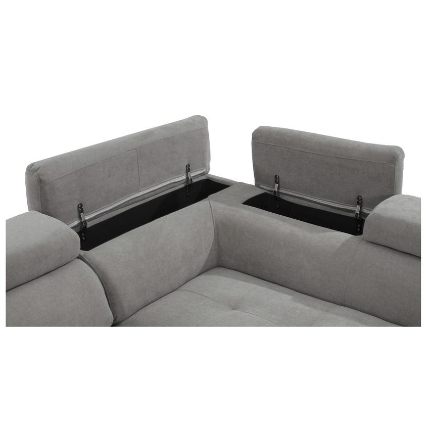 Taheri Gray Corner Sofa w/Right Chaise  alternate image, 6 of 8 images.