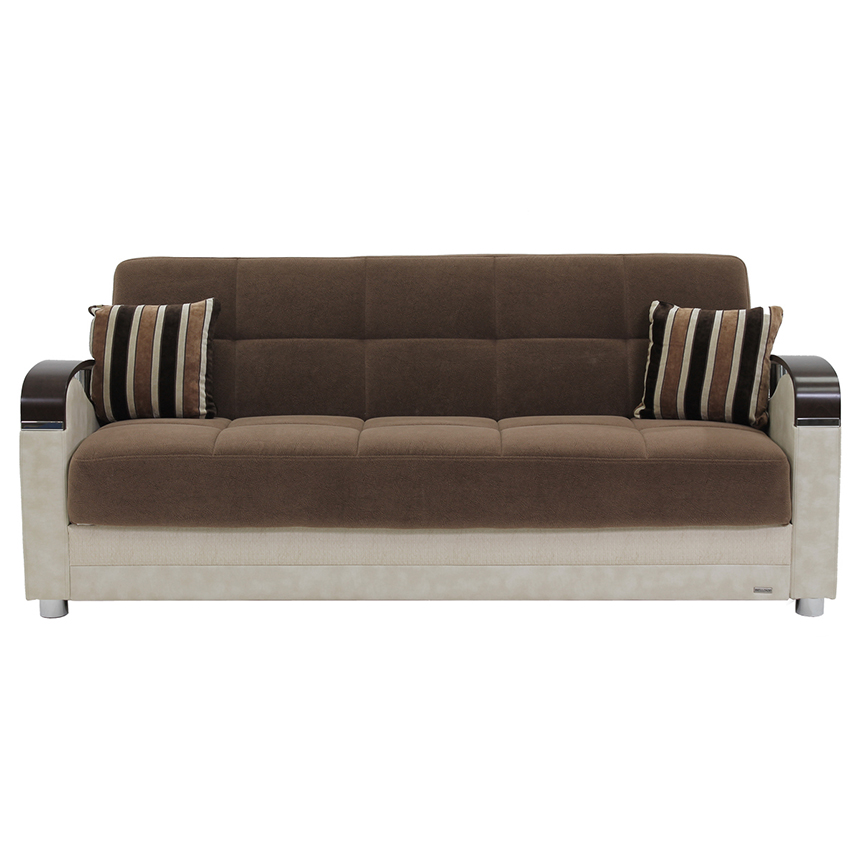 Peron Cream Futon Sofa  alternate image, 2 of 10 images.