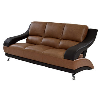 Jedda Camel Leather Sofa
