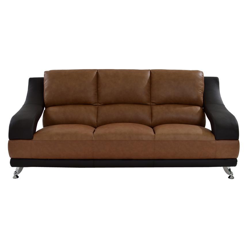 Jedda Camel Leather Sofa El Dorado Furniture