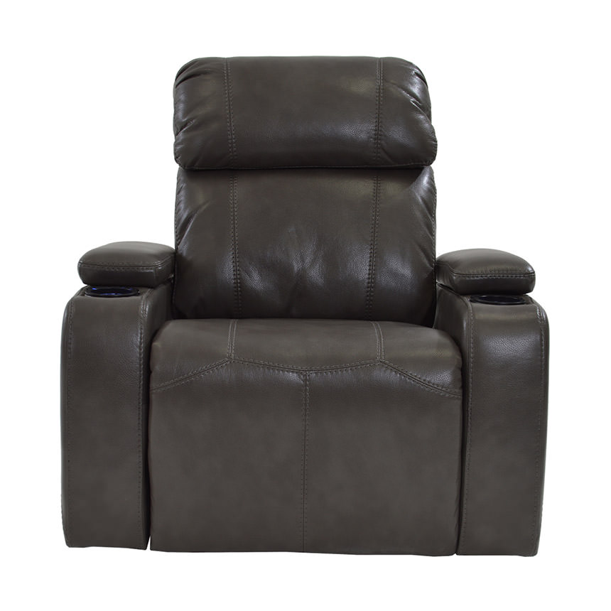 Magnetron Gray Power Motion Recliner  alternate image, 3 of 7 images.