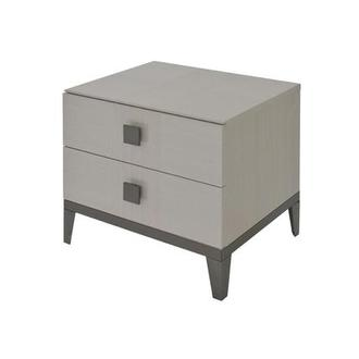 Mont Blanc Gray Nightstand Made in Italy