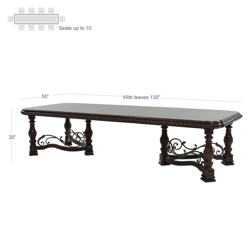 Opulent Extendable Dining Table  alternate image, 3 of 8 images.