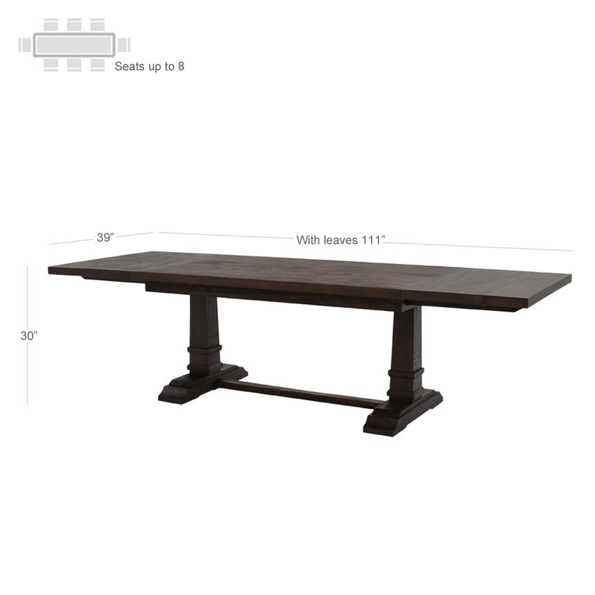 Hudson Brown Extendable Dining Table El Dorado Furniture