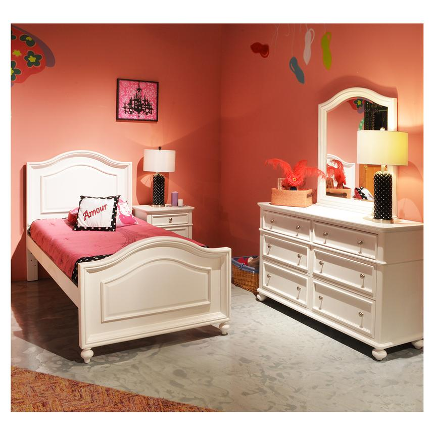 Kailee White Nightstand  alternate image, 2 of 7 images.