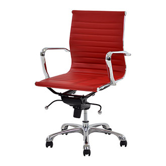 Watson Red Low Back Desk Chair