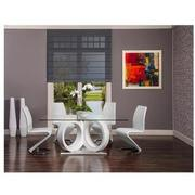 Stop 36 White 5-Piece Formal Dining Set  alternate image, 2 of 11 images.
