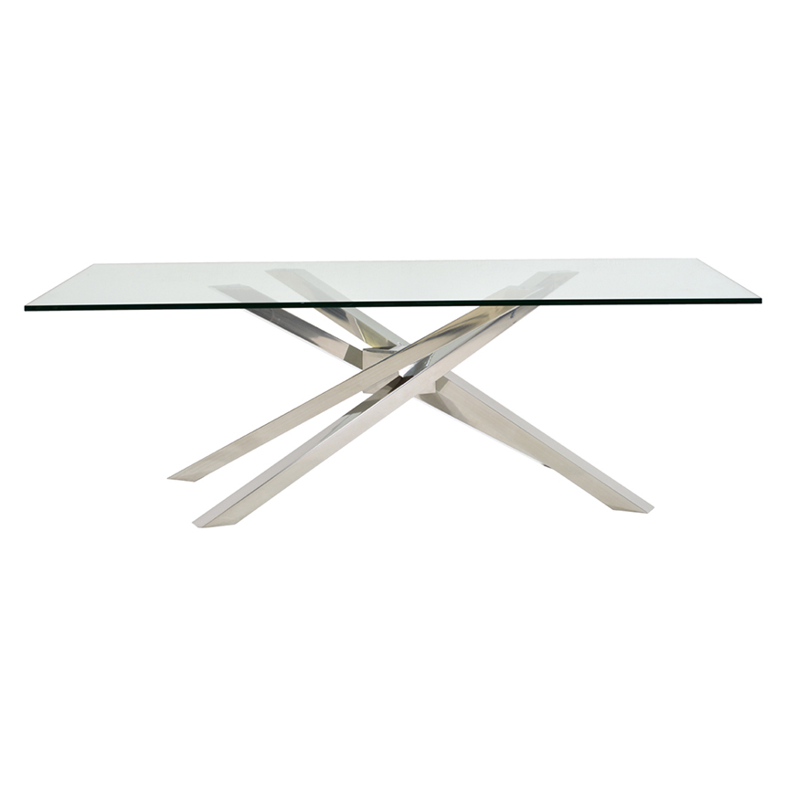 Cyprus Clear Rectangular Dining Table Alternate Image 2 Of 3 Images