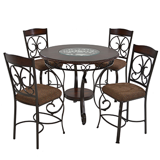 Glambrey 5-Piece Counter Dining Set
