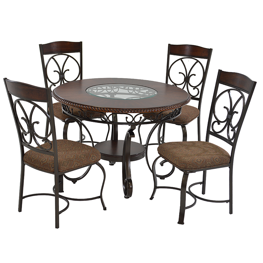 Glambrey 5 Piece Casual Dining Set Main Image 1 Of 9 Images