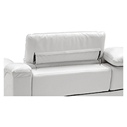 Davis White Power Motion Leather Sofa w/Right & Left Recliners  alternate image, 5 of 8 images.