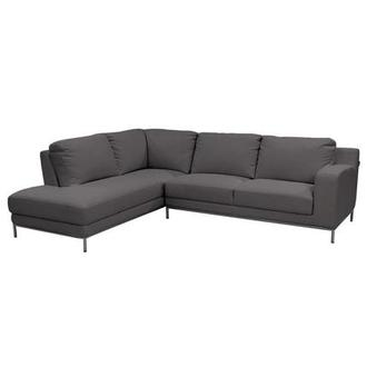 Cantrall Dark Gray Corner Sofa w/Left Chaise