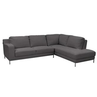 Cantrall Dark Gray Corner Sofa w/Right Chaise