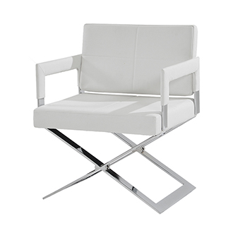 Dakota White Accent Chair