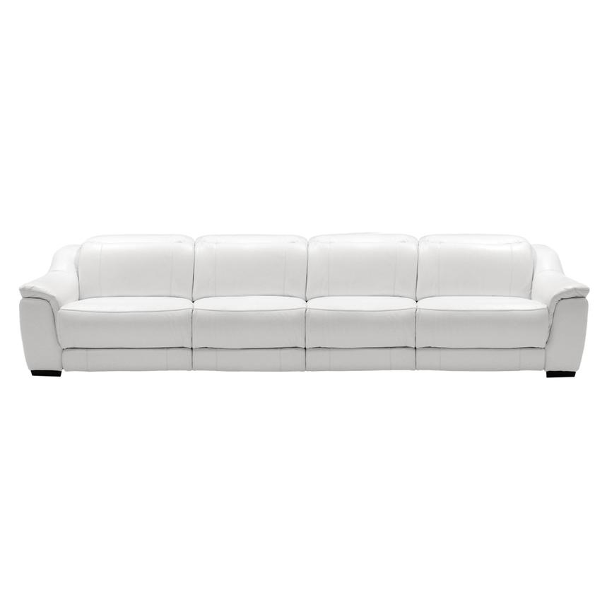 Davis White Oversized Leather Sofa El Dorado Furniture