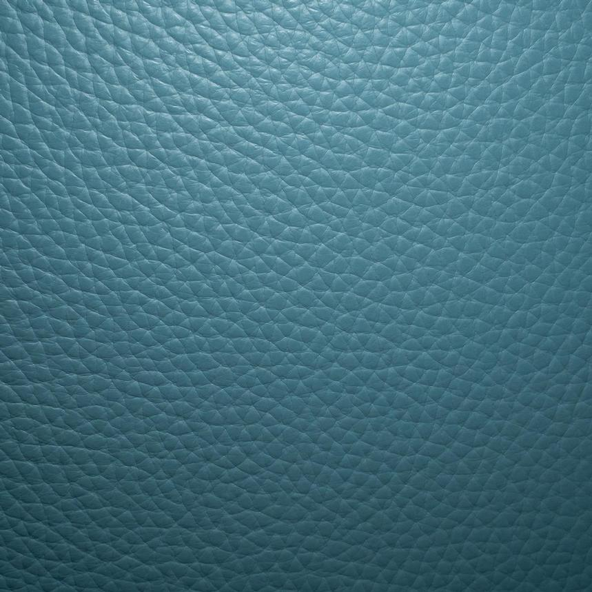 Enzo Blue Leather Swivel Chair  alternate image, 13 of 13 images.